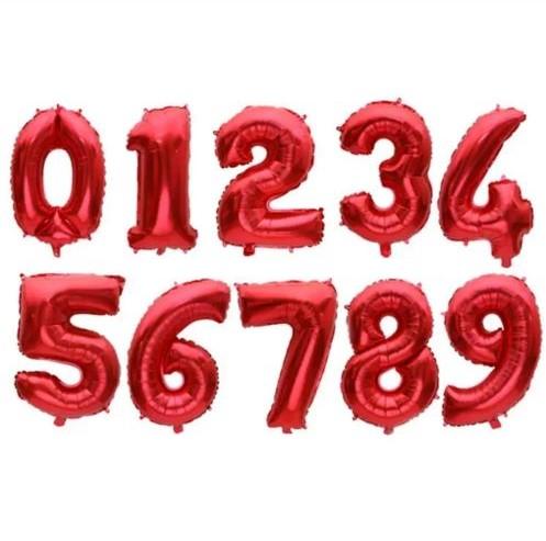 """Кульки 0-9 """"червона"""" 1 м"""