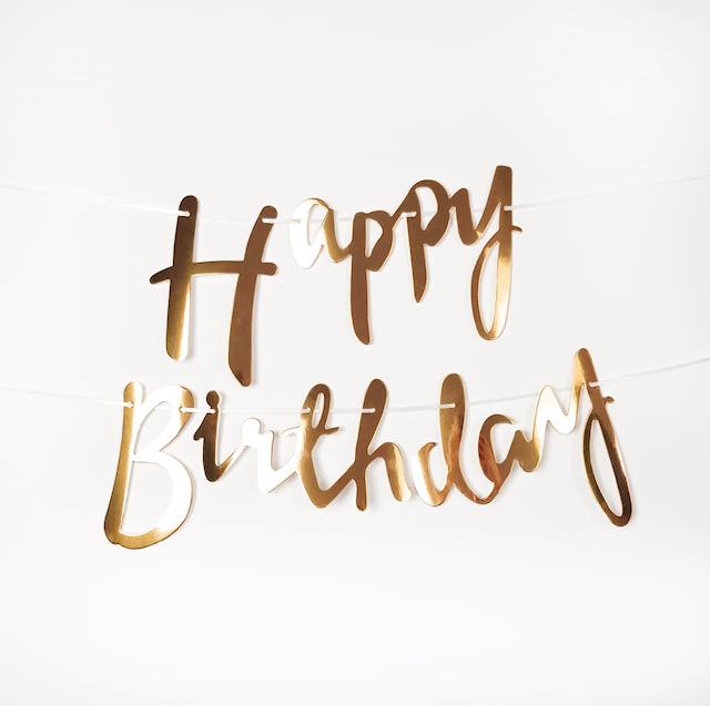 Гірлянда бронза happy birthday