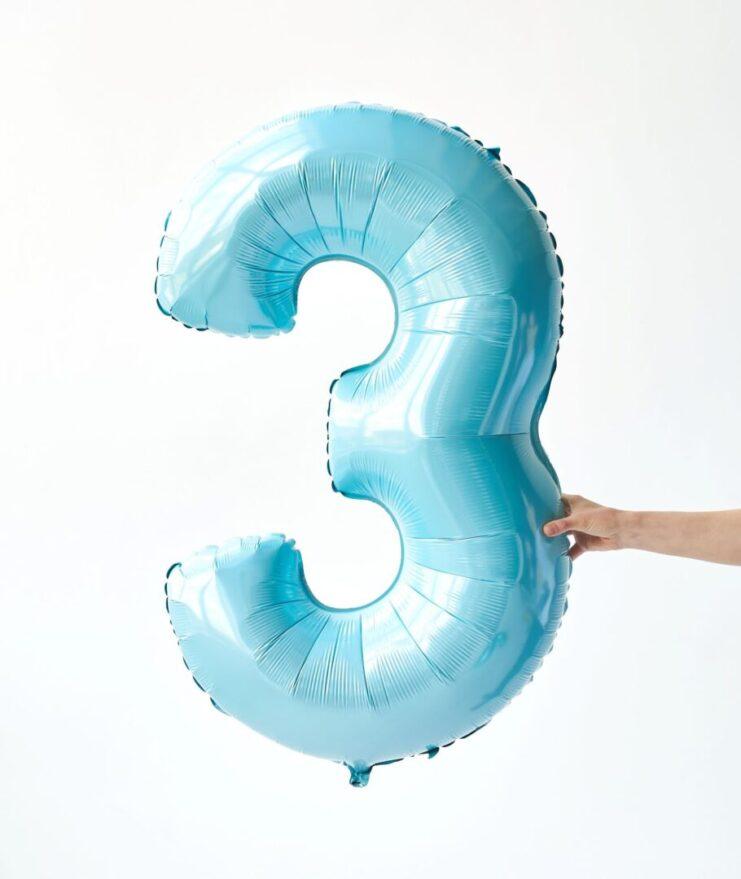 Кулька цифра блакитна 0-9